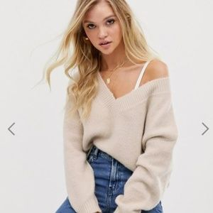 ASOS Luxe relaxed sweater in wool blend